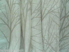 Harlequin curtain fabric tabella 1.45m tree silhouette 100% lin voile-craie