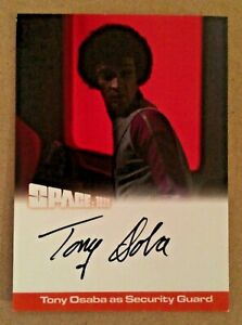 SPACE 1999 SERIES 2: AUTOGRAPH CARD: Tony Osaba as Security Guard TO1