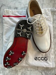 Ecco Men's World Class White leather Golf Shoes UK 10 (EU 44) BNIB