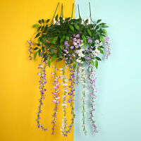 Artificial Wisteria Flower String Wedding Ceiling Party Home Hotel Decor