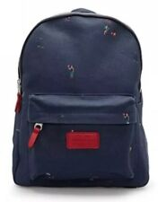 NEW COUNTRY ROAD Canvas Toddler Boy Child Sports Print Navy Adjust Backpack Bag