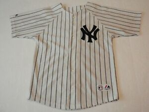 Roger Clemens New York Yankees Baseball Majestic MLB Shirt Size Boys Medium sewn