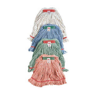 RUBBERMAID COMMERCIAL PRODUCTS FGD21206WH00 String Wet Mop,16 oz, Cotton/Synthet