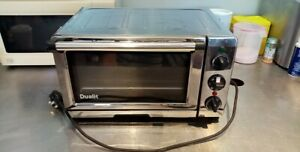 Dualit Mini Small Oven cooker stainless steel, crumb tray. Read condition report