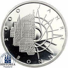 RFA 10 DM 2000 ans Bonn 1989 argent spéculaire pièce dans münzkapsel