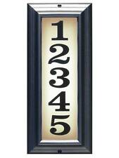 Vertical Lighted Adress Sign in Pewter