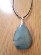 Blue dragon veins pendant necklace natural stone gemstone gift boho ethnic