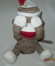 "Peek-A-Boo Sock Monkey ""GIGGLES"" Talking Giggling 10"" dated 2013"