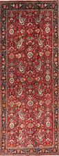 Rare Size All-Over Paisley Floral Kashmar Wide Runner Rug Hand-Knotted Red 6x14