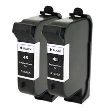 2 HP 45 51645A Black Ink Cartridge for Deskjet 815C 830C 832C 880C 882C