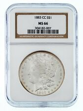 1883-CC $1 Silver Morgan Dollar Graded by NGC as MS-66! High Grade!