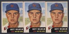 1953 TOPPS ~ #151 ~ HOYT WILHELM ~ THREE VARIATIONS WHITE & BLACK TEXT ~ 3 CARDS