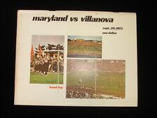 September 29, 1973 Maryland vs. Villanova College Football Program EX+
