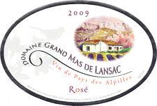 Etiquette de vin - Wine Label - Domaine Grand Mas de Lansac - Vin de Pays