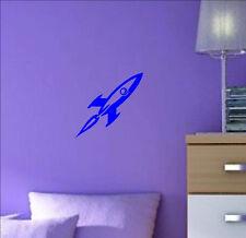 Space ROCKET decal sticker vinyl wall art Children's kids room nursery SR1