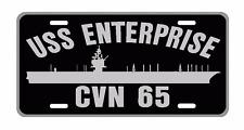 USS ENTERPRISE CVN 65 License Plate Military sign USN 001