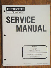 FORCE OUTBOARD SERVICE MANUAL 25HP 1996 AND UP MARINE BOAT MOTORS ENGINES EBAY