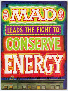 MAD magazine -- #168 -- July 1974 -- Mad Leads The Fight To Conserve Energy__mag