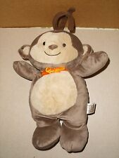 Carters Child of Mine Brown Monkey Orange Bow Musical Baby Crib Pull Toy Plush