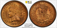 1895 1C Indian Head Cent PCGS MS 65+ RD Uncirculated Red Secure Holder Nice !