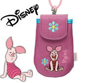 Original Disney Piglet Winnie Pooh Pink Girl Kid Mobile Phone Lanyard Bag Cute