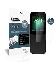 2x Nokia 8110 4G Protector de Pantalla Vidrio Flexible Mate Proteccion 9H dipos