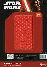 Spannbettlaken Star Wars rot - 90/100 x 200 cm - Baumwolle - Bettlaken, Betttuch