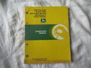 John Deere 7200 maxemerge max-emerge 8 row drawn planters operator's manual