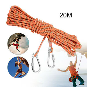 20M Climbing Escape Rope Static Rock Climbing Rope  Strong Abrasive Resistance