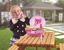 Vinsani 15 PC Light & Sound Pink Kids Outdoor Summer BBQ Portable Play Set