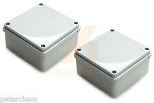 2 x Junction box 100mm x 50mm waterproof IP56 plastic PVC adaptable enclosure