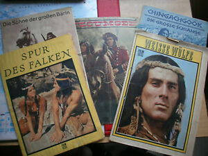 6 x DEFA Kinoprogramm Indianer Gojko Mitic´ - DDR