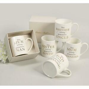 Bambino Pregnancy Baby Announcement For Family Bone China Mug Cup In Gift Box