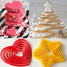 6x Cookies Fondant Cake Cutter Pastry Star Love Heart kitchen Baking Mold Tools
