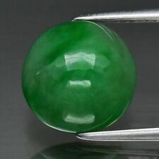 4.69ct 10mm Round Cabochon Natural Green Jade, Burma