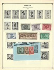 Belgium Mnh lot of 30, mostly on pages from Scott Int'l album-includes #386-389