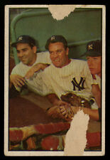 1953 BOWMAN COLOR ~ #44 ~ MICKEY MANTLE YOGI BERRA ~ CENTERED ~ PRICED TO SELL
