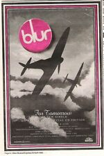 More details for blur for tomorrow 1993 uk poster size press advert 10x7 inches
