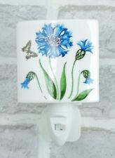 Ceramic Night Light Cornflower Floral Plug In On/Off Switch Nightlight 4566