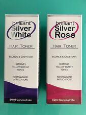 BRILLIANT SILVER WHITE & ROSE HAIR TONER 50ml   POST SAME DAY