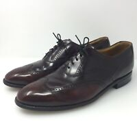 Johnston & Murphy Aristocraft Wing Tip Brown Leather Dress Shoes Men Size US 9.5