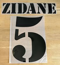Flocage #5 ZIDANE Maillot Domicile REAL MADRID patch football shirt