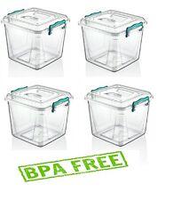 4 X 8.5 L Heavy Duty plastique Pantry Boîte alimentaire conteneur Boîte de Range...