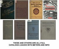 80 CATALOGS Antique Electric METER WATTHOUR VOLT GE Weston Thomson Edison switch