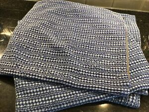 "Pottery Barn Honeycomb Pillow Cover ~ 18"" x 18"" ~Blue NEW - Total Of 4 Available"