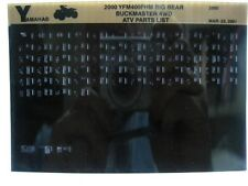 Yamaha YFM400 2000 Big Bear Buckmaster 4WD YFM400FHM Parts Manual Microfiche s35