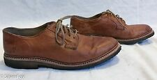 Mens FRYE James Crepe Tan Whiskey Leather Casual Oxford Shoes 9.5 D