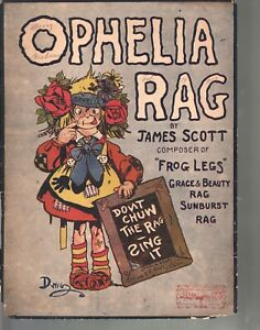 Ophelia Rag 1910 James Scott Sheet Music