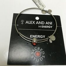 ALEX AND ANI SACRED STUDS ENERGY EXPANDABLE BANGLE IN HYACINTH SILVER NWT! CARD