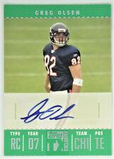 2007 Topps TX Exclusive #FTA-GO Greg Olsen Autograph Rookie Football Card Z77